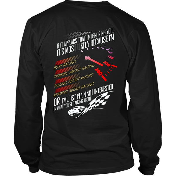 T-shirt - Thinking Abot Racing - Back Design