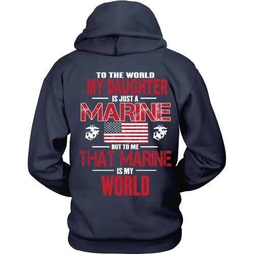 T-shirt - To The World MArine Daughter - Back