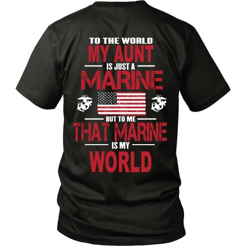 T-shirt - To The World My Aunt Is A Marine - Back
