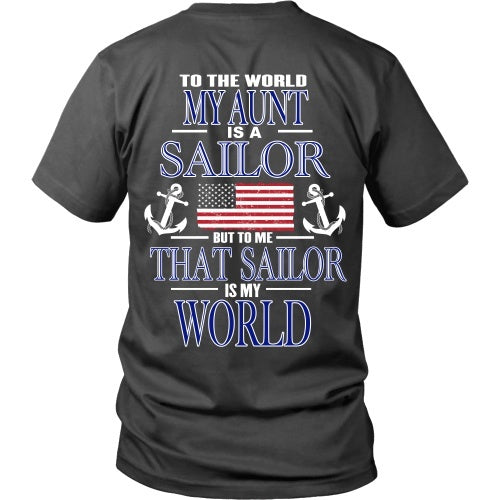 T-shirt - To The World My Aunt Is A Sailor - Back
