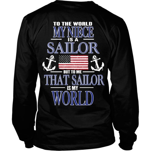 T-shirt - To The World My Niece Is A Sailor - Back