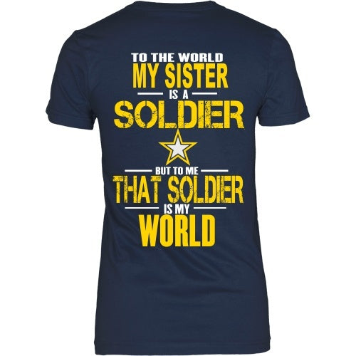 f5312933f158d ... T-shirt - To The World My Sister Is A Soldier- Back Design ...