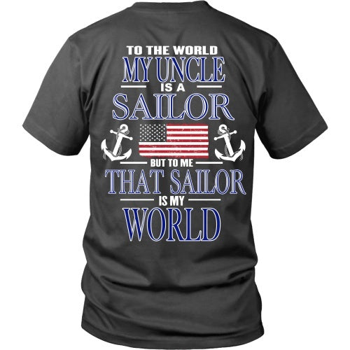 T-shirt - To The World My Uncle Is A Sailor - Back