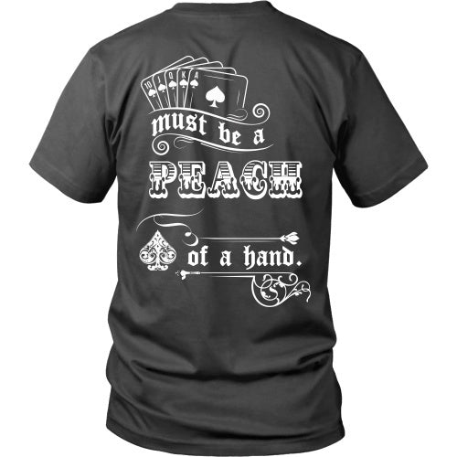 T-shirt - Tombstone - Must Be A Peach Of A Hand - Back Design