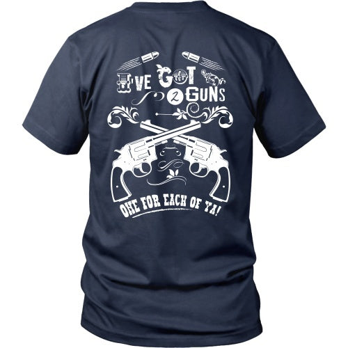 T-shirt - Tombstone - Two Guns, One For Each Of You - Back Design