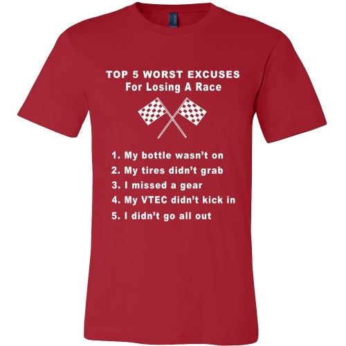 T-shirt - Top 5 Reason's You Lost The Race Tee