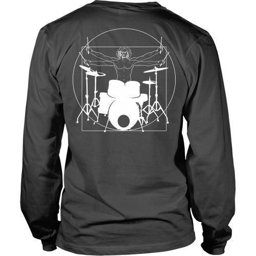 T-shirt - Vitruvian Drummer -  Back Design