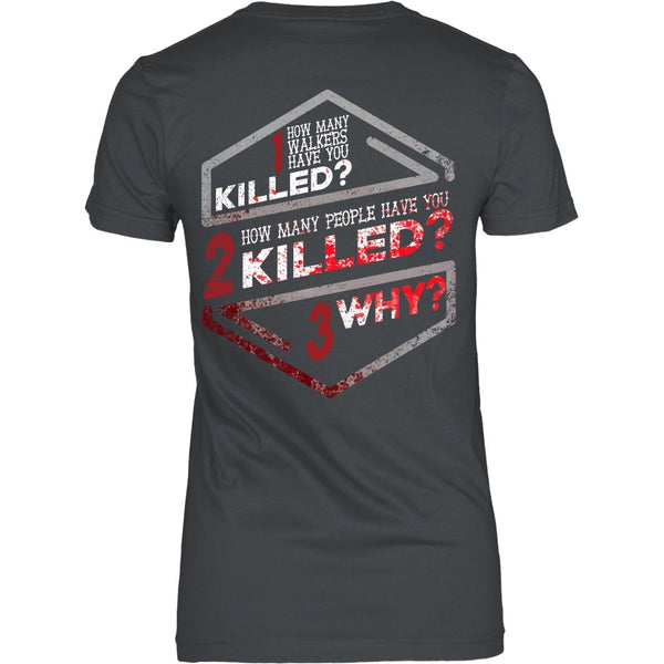 T-shirt - Walking Dead - How Many Walkers? Back Design