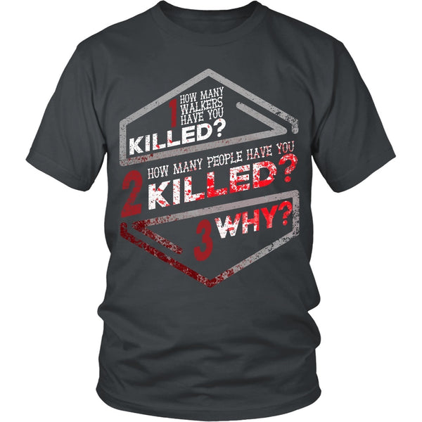 T-shirt - Walking Dead - How Many Walkers?  Front Design