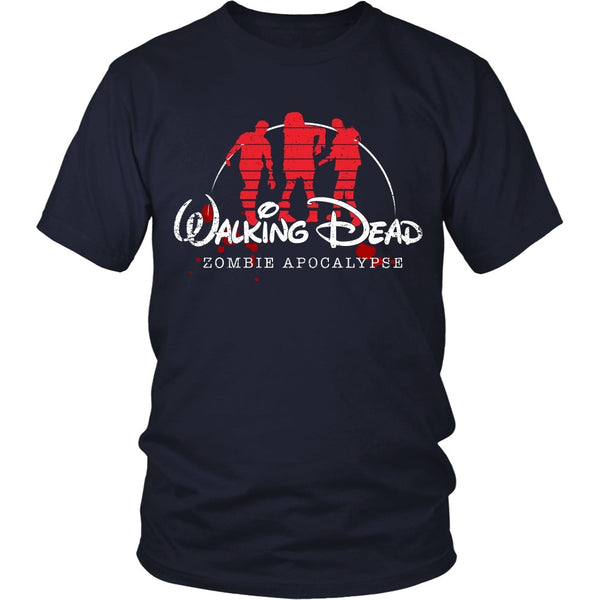T-shirt - Walking Dead - Walking Disney - Front Design