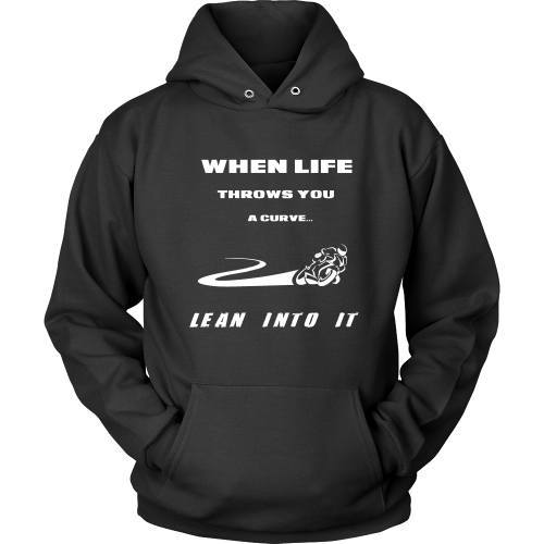 T-shirt - When Life Throws You Curves, Lean Into Them - Front