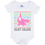 Ugly Christmas Onesie 6 Month - Baby Shark - 02 Pink