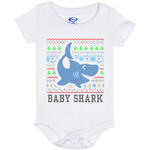 Ugly Christmas Onesie 6 Month - Baby Shark - 02 Blue