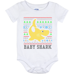 Ugly Christmas Onesie 12 Month - Baby Shark - 02 Yellow