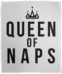 Queen of Naps B&W Cozy Plush Fleece Blanket - 50x60