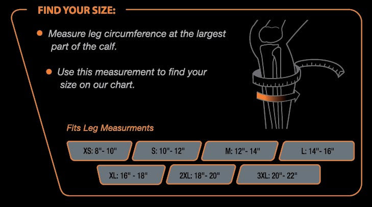 Calf Compression Size Chart