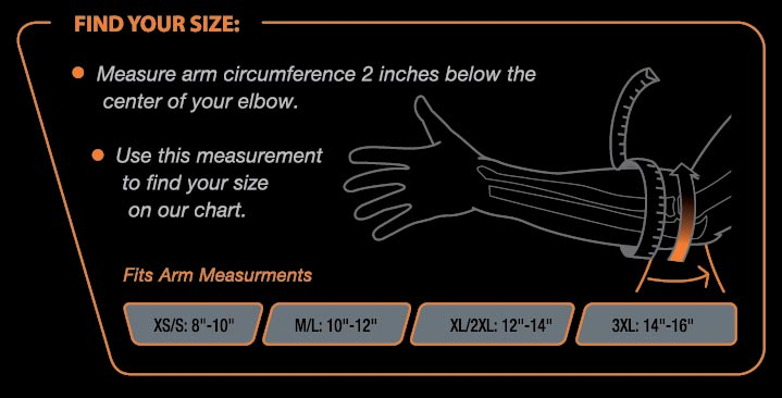 Elbow Support Size Chart