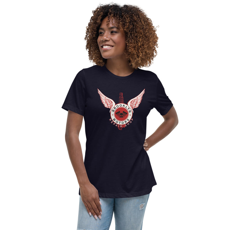 Brooklyn Motors Women's Spark Plug Logo T-Shirt