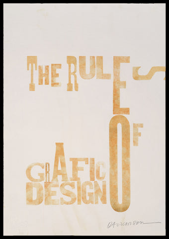 "Print 37/41. ""Rules of Grafic Design"" series"