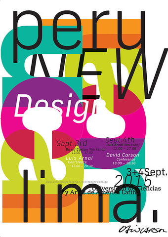 david carson peru poster type design