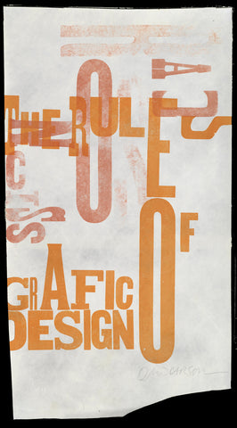 "Print 1/41. ""Rules of Grafic Design"" series"