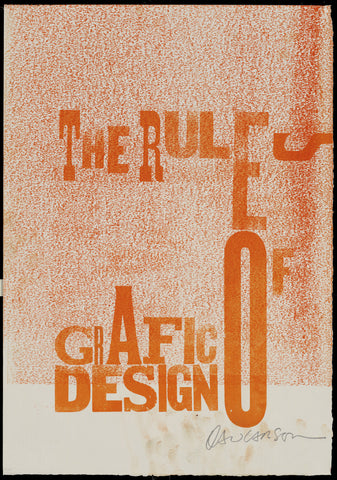 "Print 2/41.  ""Rules of Grafic Design"" series"