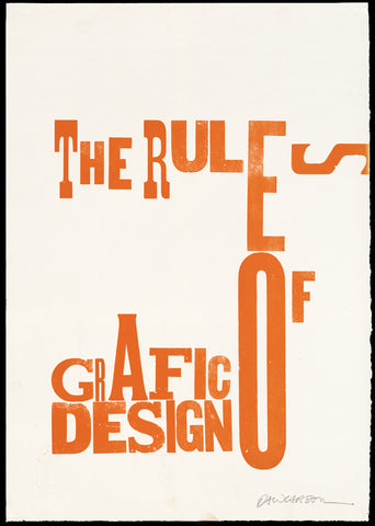"Print 3/41. ""Rules of Grafic Design"" series"