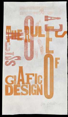 "Print 11/41. ""Rules of Grafic Design"" series"