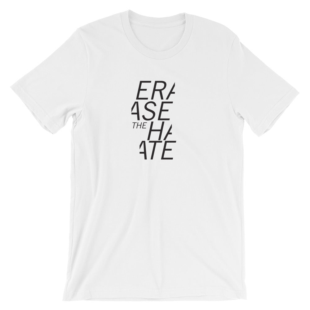 Erase the Hate - mens / large logo t-shirt