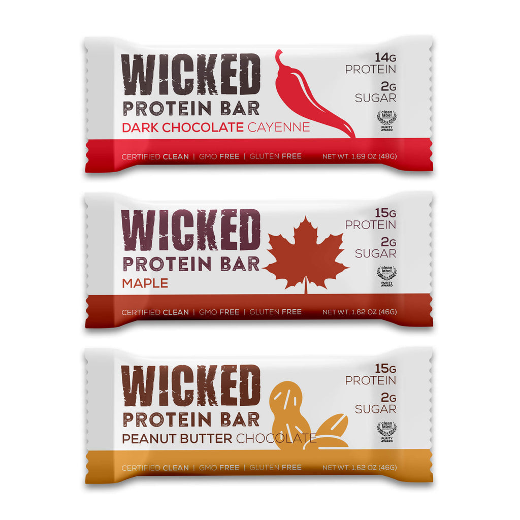 WICKED Protein SAMPLE (3 Bars, Free Shipping) - WICKED Protein Bars