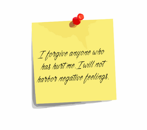 "Daily Affirmation 18: ""I forgive anyone who has hurt me. I will not harbor negative feelings."""