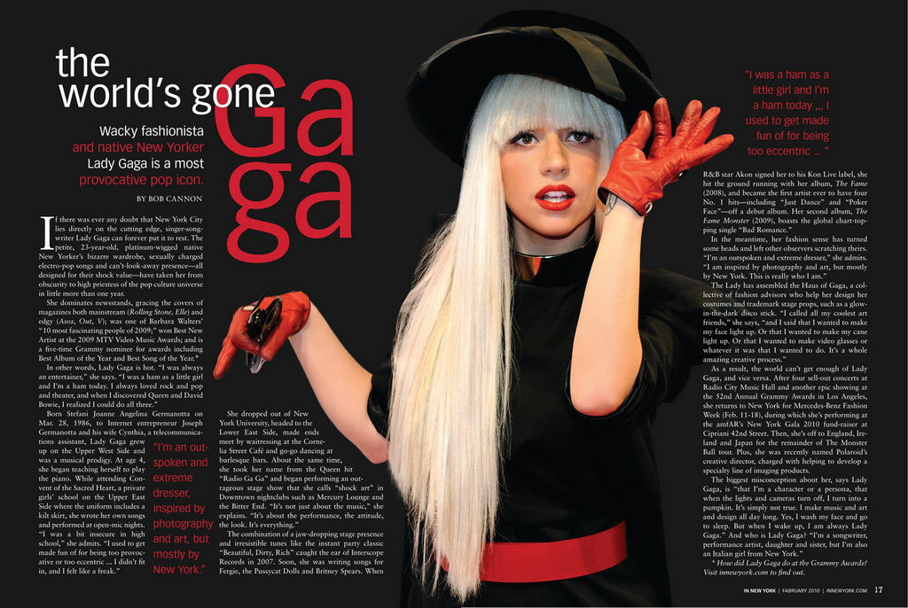 In New York Magazine – Lady Gaga in the February Issue