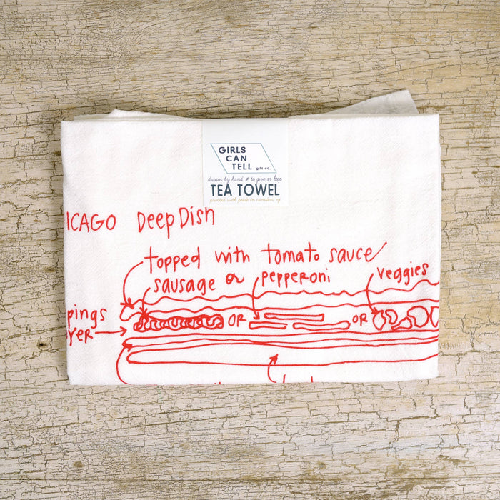 Chicago Deep Dish Tea Towel