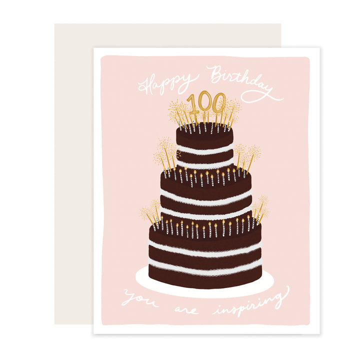 100th Birthday Cake Card