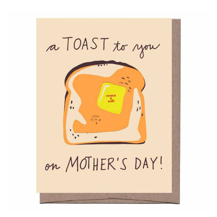 La Familia Green - Scratch & Sniff Toast Mother's Day Card