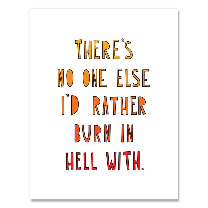 Burn in Hell Card