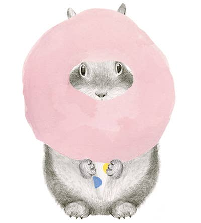 Cotton Candy Birthday Bunny Card