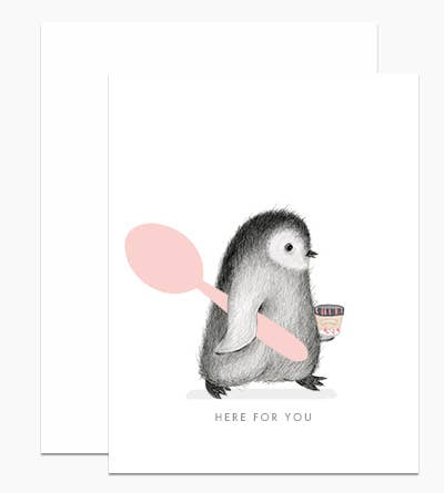 Penguin Here For You Card
