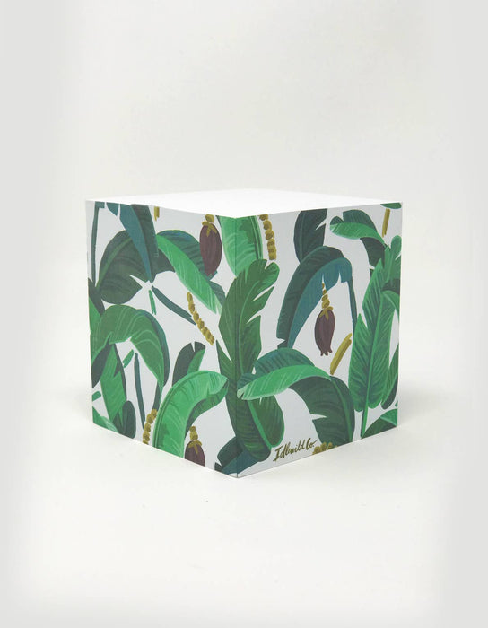 Idlewild - Banana Leaf Sticky Note Cube