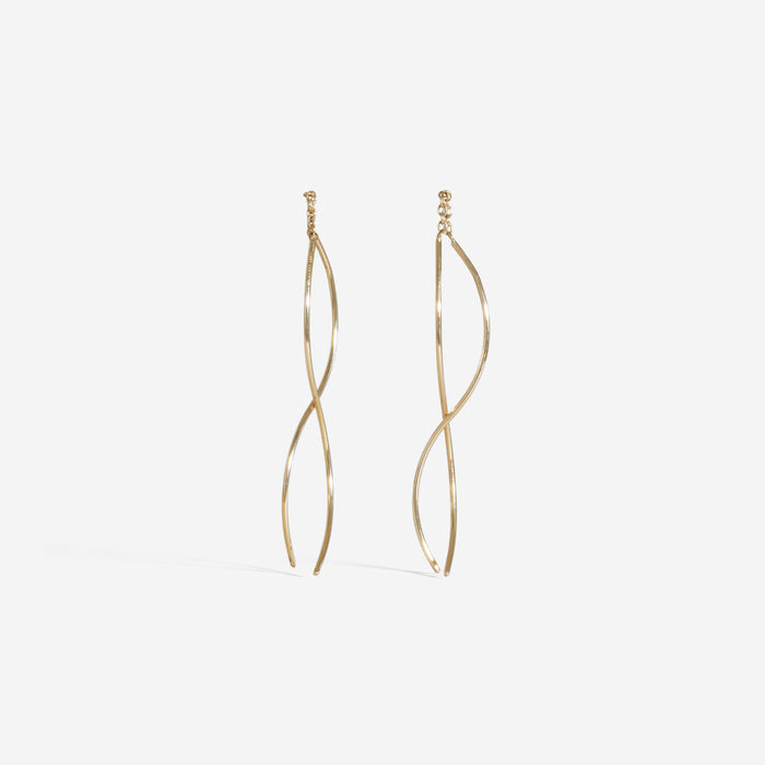 Curved Thread Through Earrings