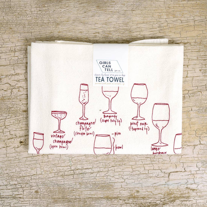 Wine Glasses Tea Towel