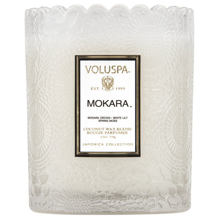 Japonica Boxed Scalloped Edge Candle, Mokara