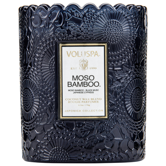 Japonica Boxed Scalloped Edge Candle, Mosu Bamboo