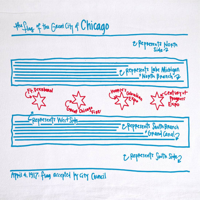 Chicago Flag Tea Towel