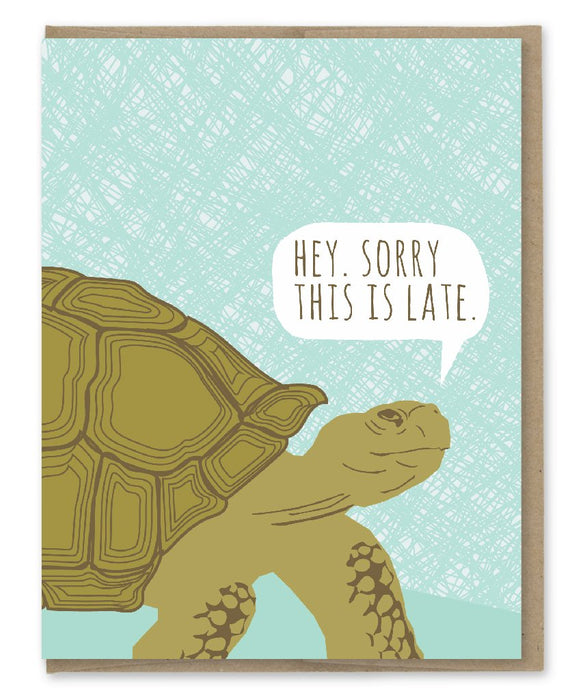 Belated Tortoise Birthday Card