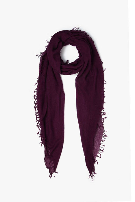 Fig cashmere scarf