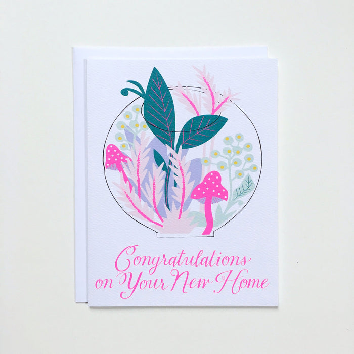 Terrarium New Home Card