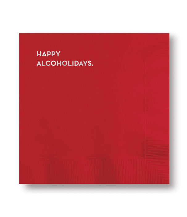 Happy Alcoholidays Cocktail Napkins