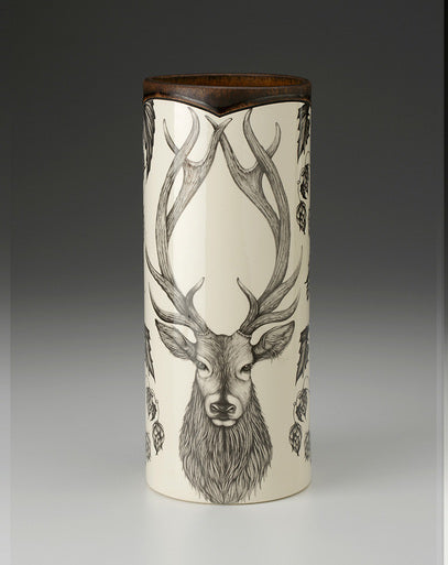Red Stag Large Vase
