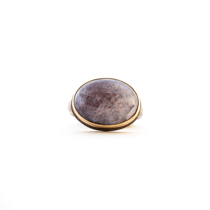 Smooth Oval Iolite Ring